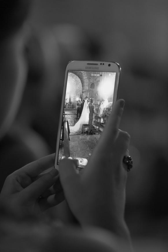 Foto móvil novios boda