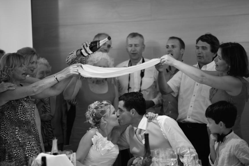 Los novios y el banquete