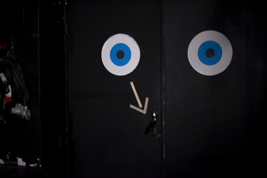 Puerta de acceso al escenario
